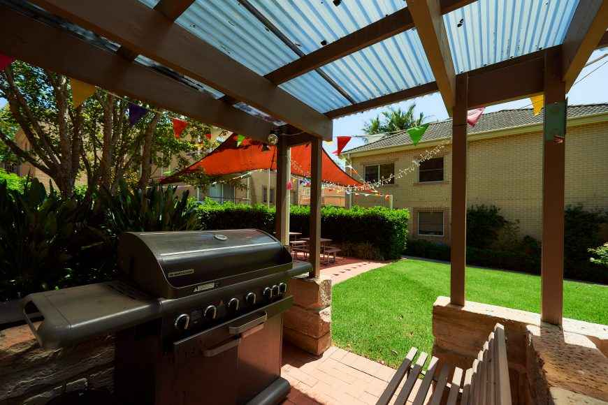 BBQ facilities at Courtlands Village in North Parramatta