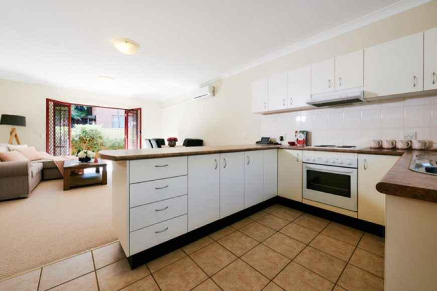 The kitchen in Westcourt Village in Westmead's retirement units.