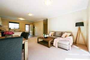 The living room in Westcourt Village in Westmead's retirement units.