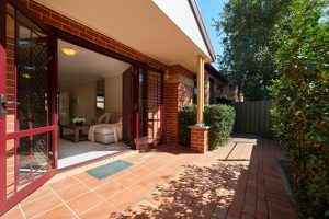 The courtyard of Westcourt Village in Westmead's retirement units.