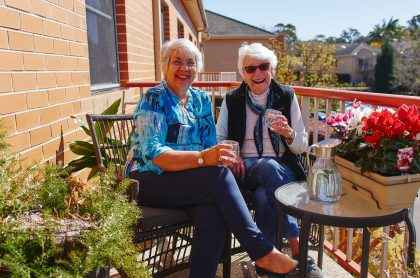 Shirley Johnson and Margaret Kaye enjoy their life at Courtlands VIllage in North Parramatta