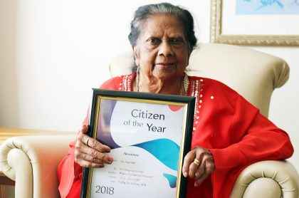 Courtlands Aged Care resident Ivy was nominated for Citizen of the Year by Cumberland Council.