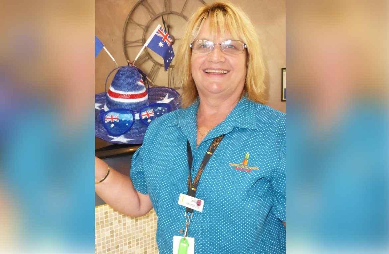 Denise works at Chamberlain Gardens in Wyoming.