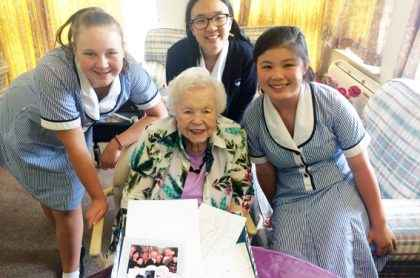 Students were paired with residents at Courtlands Aged Care in North Parramatta to share life stories.