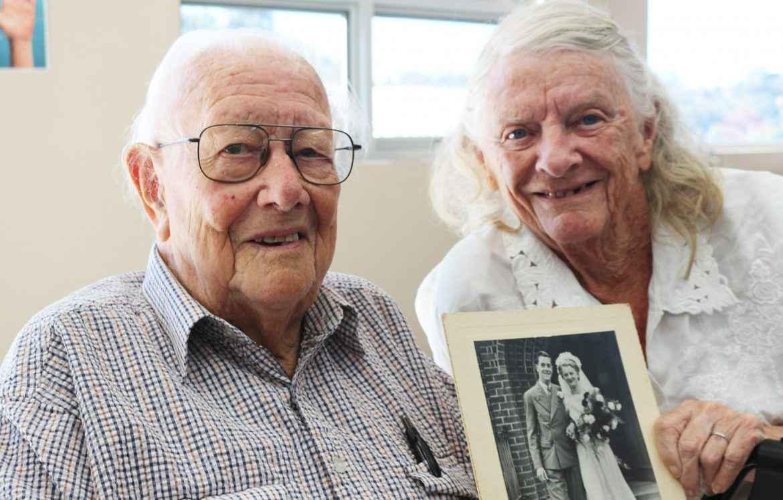 Owen and Hazel Forsdike celebrate their 70th wedding anniversary.