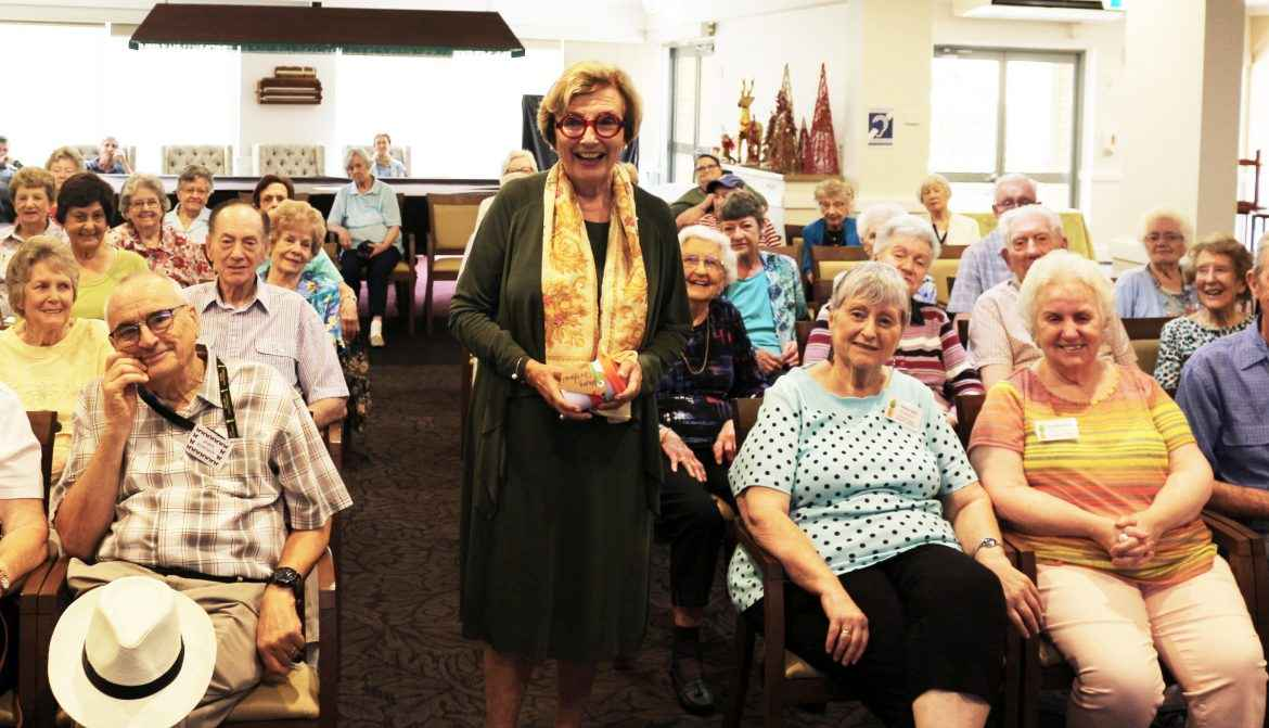 NSW Retirement Village Ambassador Kathryn Greiner AO visited Courtlands Village in North Parramatta.