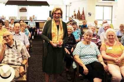 NSW Retirement Village Ambassador Kathryn Greiner AO visited Courtlands Village in North Parramatta.